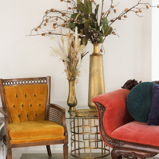 Tall Gold Vases