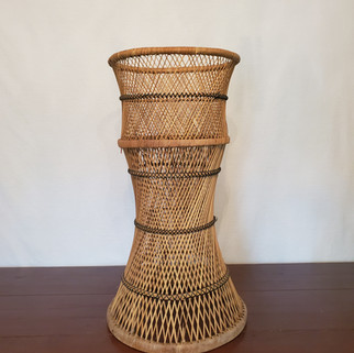 Wicker High Table with Glass Top