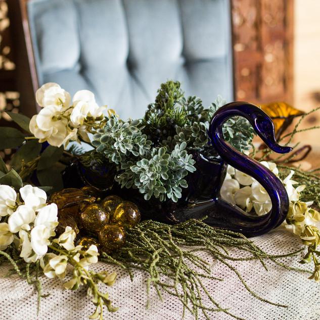 Blue Swan Vase