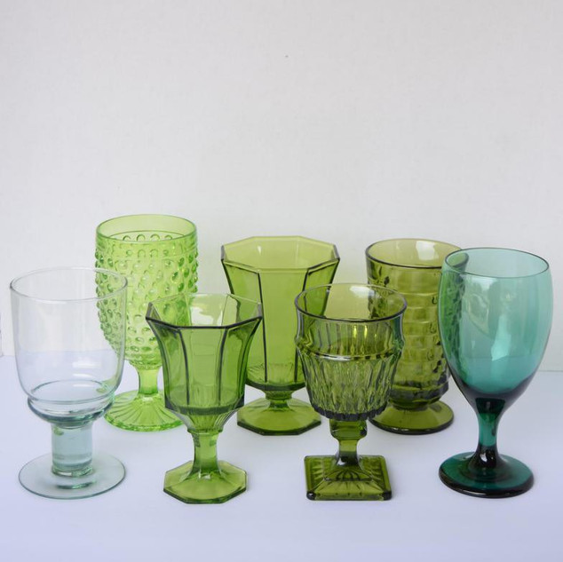 Green and Teal Goblets
