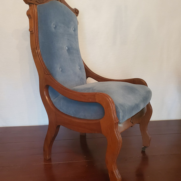 Blue Parlor Chair