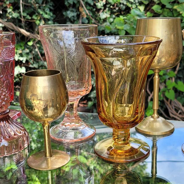 Brass Wine Glasses