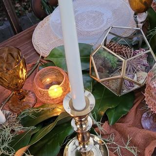 Amber Tea light holders