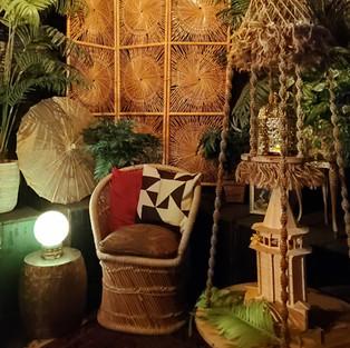 Macrame plant hanger/table