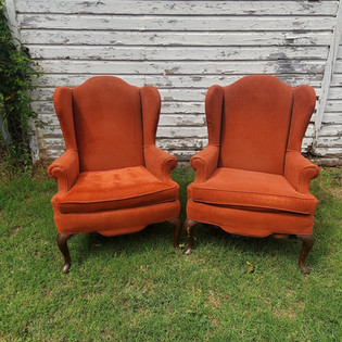 Rust Arm Chairs