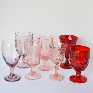 Pink, Red and Purple Goblets