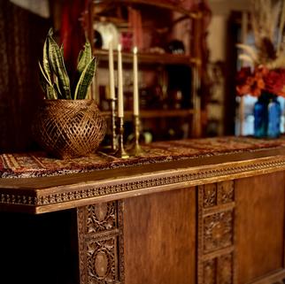 Wood Carved  Antique Bar