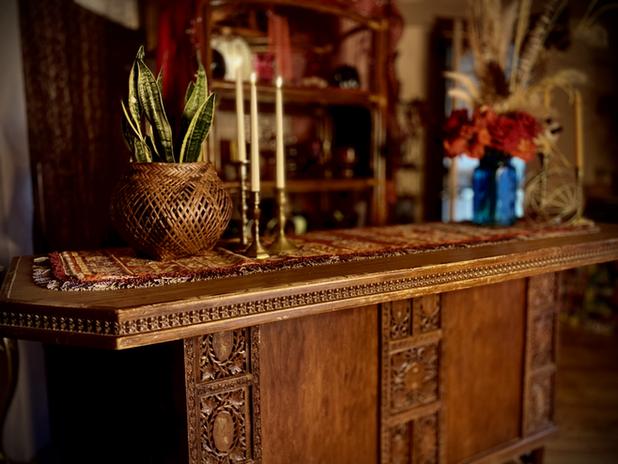 Wood Carved Bar