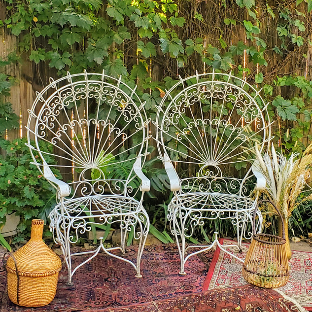 Iron Peacock Chairs