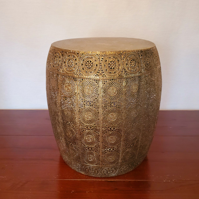 Gold moroccan end table