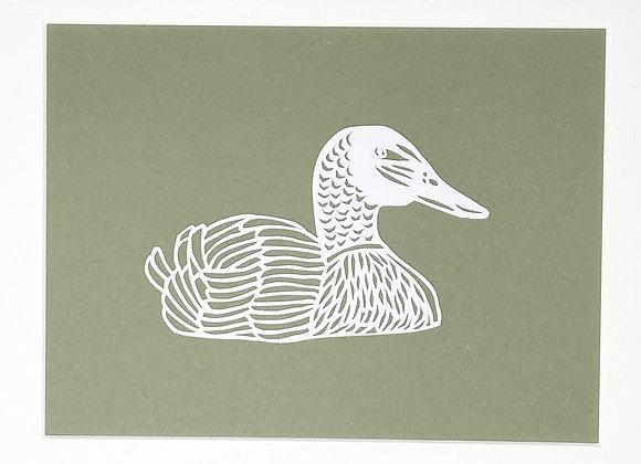 Duck Papercut