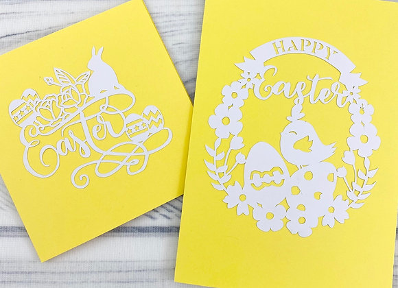Easter Papercut Cards