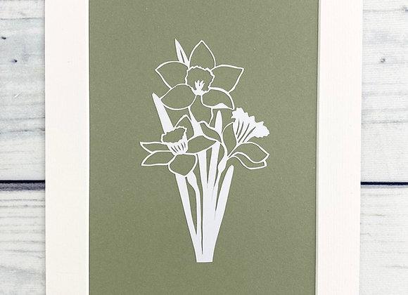 Daffodil Papercut