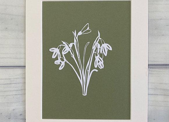 Snowdrop Papercut
