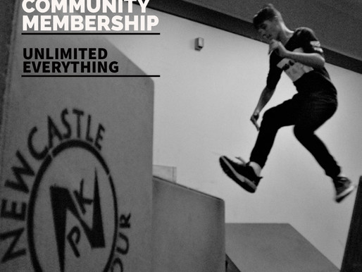 Newcastle Parkour Memberships!