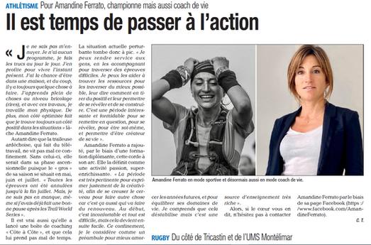 Interview La Tribune Montélimar - Covid19