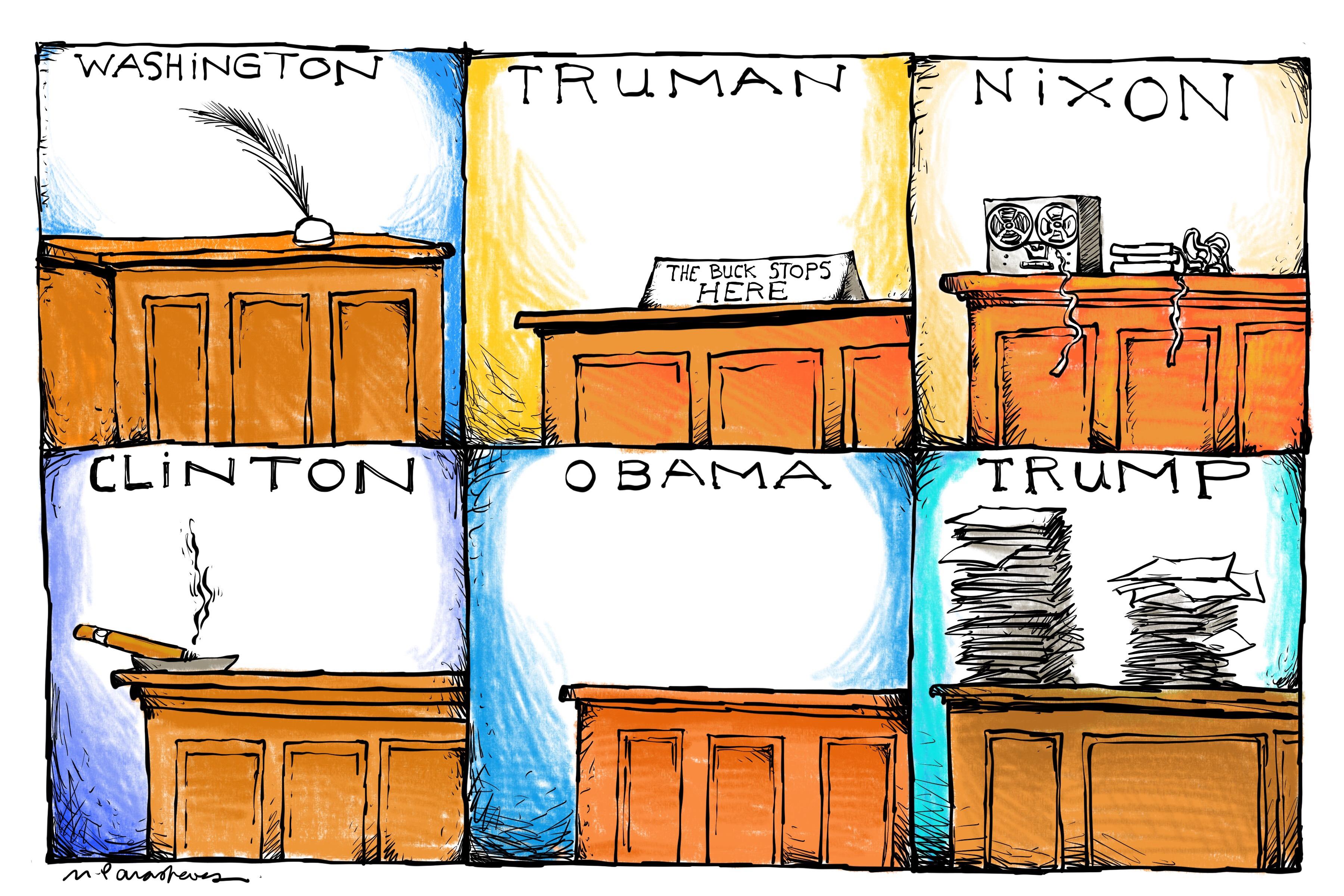 President desk trump stuff
