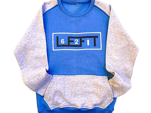 621 LEFIT Crew Neck Sweat Shirt/ w front pocket
