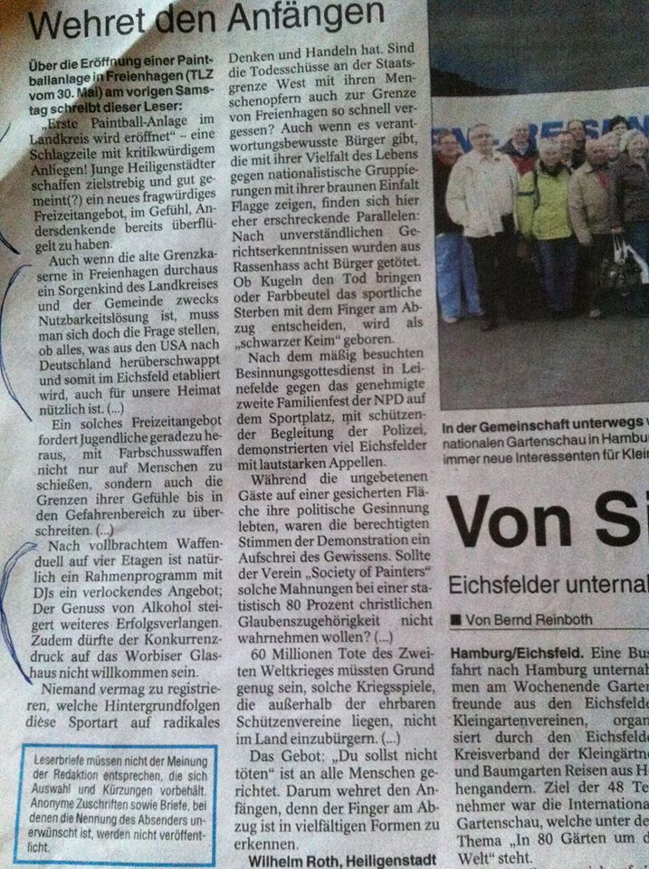 TLZ 06.06.2013 - Leserbrief