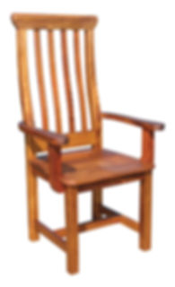 Classic Captains Chair Wood Seat and Bac