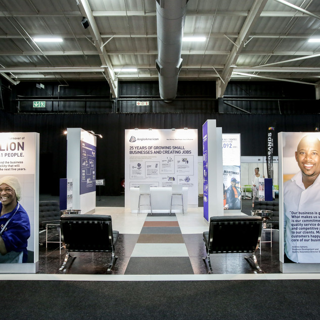 Anglo American at ED Conference, 54sqm Custom Stand