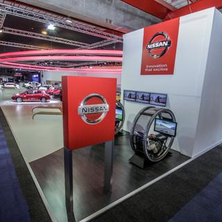 Nissan stand at Joburg Motor Show, 850sq
