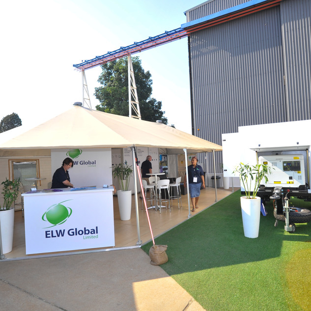 ELW stand at AAD, Outdoor stand