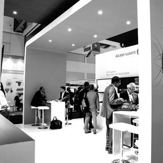 Alcatel Lucent at AfricaCom, 54sqm Custom Stand