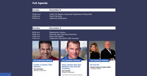 Preview webpage image of Dealer Week education agenda