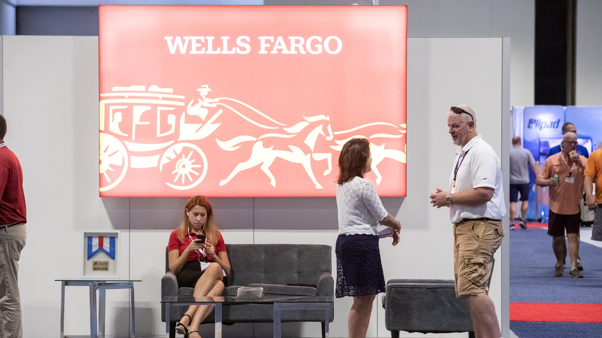 Wells Fargo exhibiting at Dealer Week 2019.