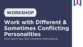 """Workshop called """"Work with Different & Sometimes Conflicting Personalities"""" with Sara Hey"""