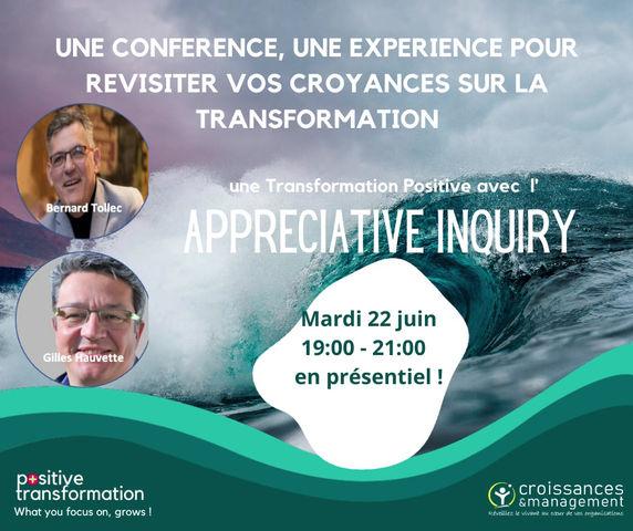 Revisiter ses croyances sur la Transformation avec l'APPRECIATIVE INQUIRY - Conférence Beyond CT