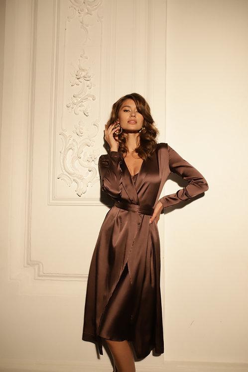 Платье из 100% натурального шёлка