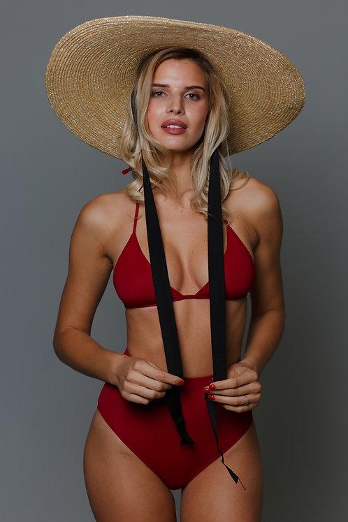 Шляпа с плоским верхом и широкими полями (19 см)