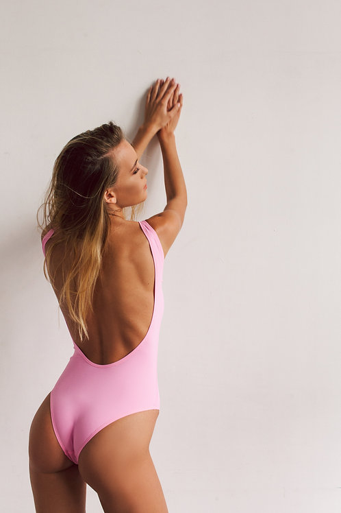 One-piece swimsuit - base model / wide straps