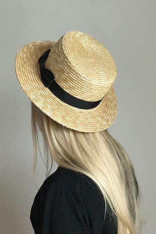Straw hat, 7 cm