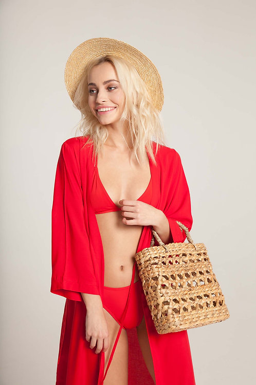 ПАЧЕ ЛЕТО: кимоно + бикини классика + шляпа + сумка крупного плет.