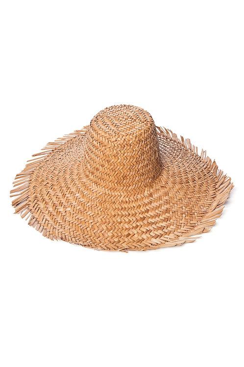 Шляпа крупного плетения с вытянутым верхом