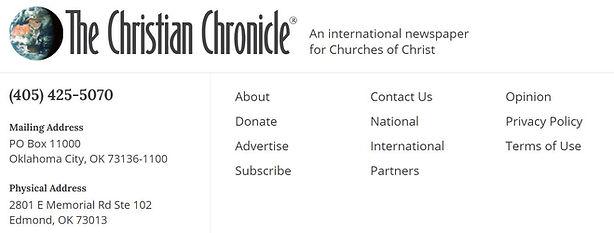 Christian Chronicle churches of Christ.J