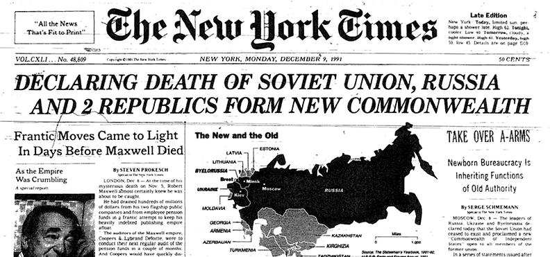 USSR-falls-in-1991-NewYork-Times-headlin