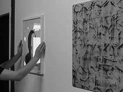 Exhibition install snaphot, artwork, arist, art
