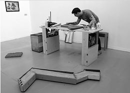 Sam Baker, live art, art in progress, workshop, makeshift exhibition,