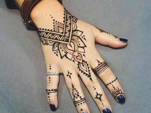 Beautiful henna tattoos for body beautification, (smokedragon studio rio de janeiro)
