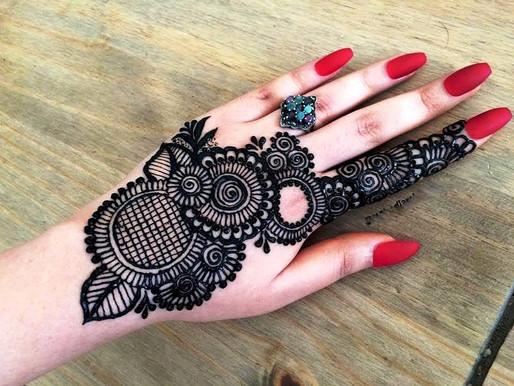 Lindas tatuagens de henna para embelezamento corporal, (estúdio smokedragon centro rio de janeiro)