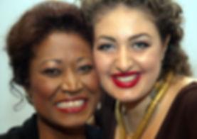 Michèle Crider (2012 Masterclass giver) with Anush Hovahannisyan (2012 Haidee Saretski Prize Winner)