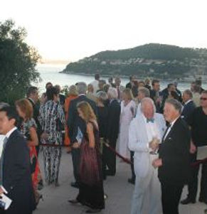 Angels Bar at the Villa Ephrussi de Rothschild, overlooking the bay of Villefranche-sur-Mer