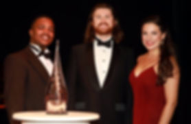 Winners of Les Azuriales Young Artists Competition 2017: Luvuyo Mbundu, Benjamin Lewis, Sofia Troncoso