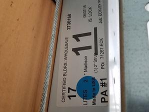 garage door information sticker label