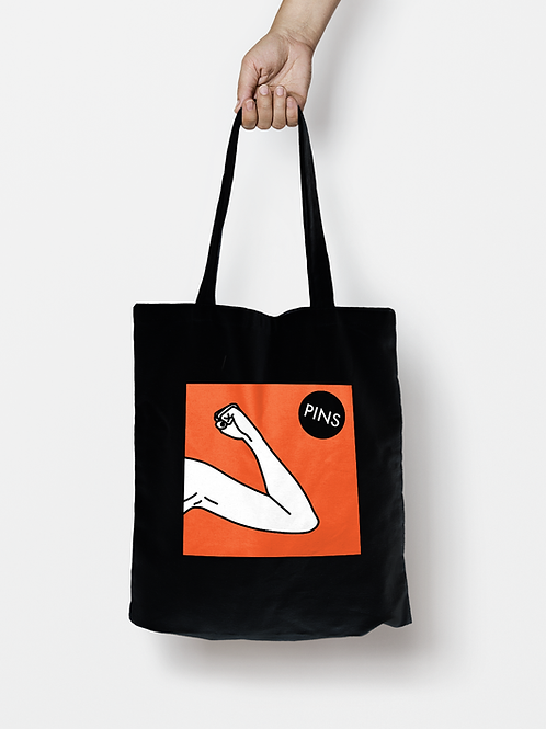 Hot Slick black tote bag