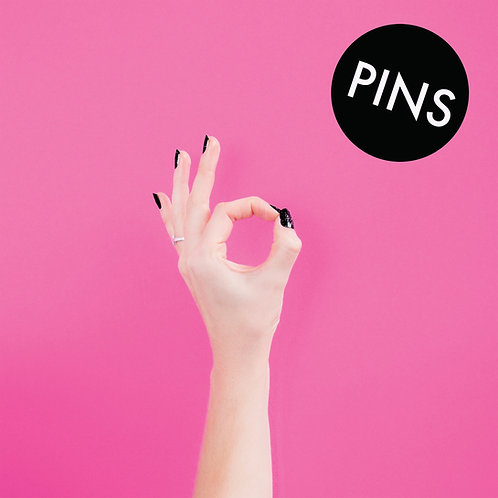 "PINS - Bad Thing EP LTD edition 12"" pink vinyl record"